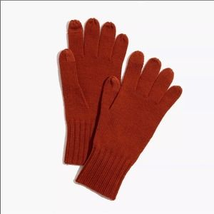MADEWELL Wool Texting Gloves Faded Rust